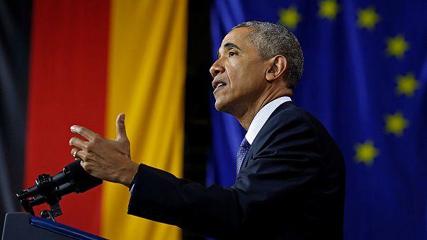 """""""Une Europe forte et unie"""" : leitmotiv d'Obama en Allemagne"""