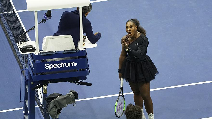 Image: Serena Williams women's singles finals match