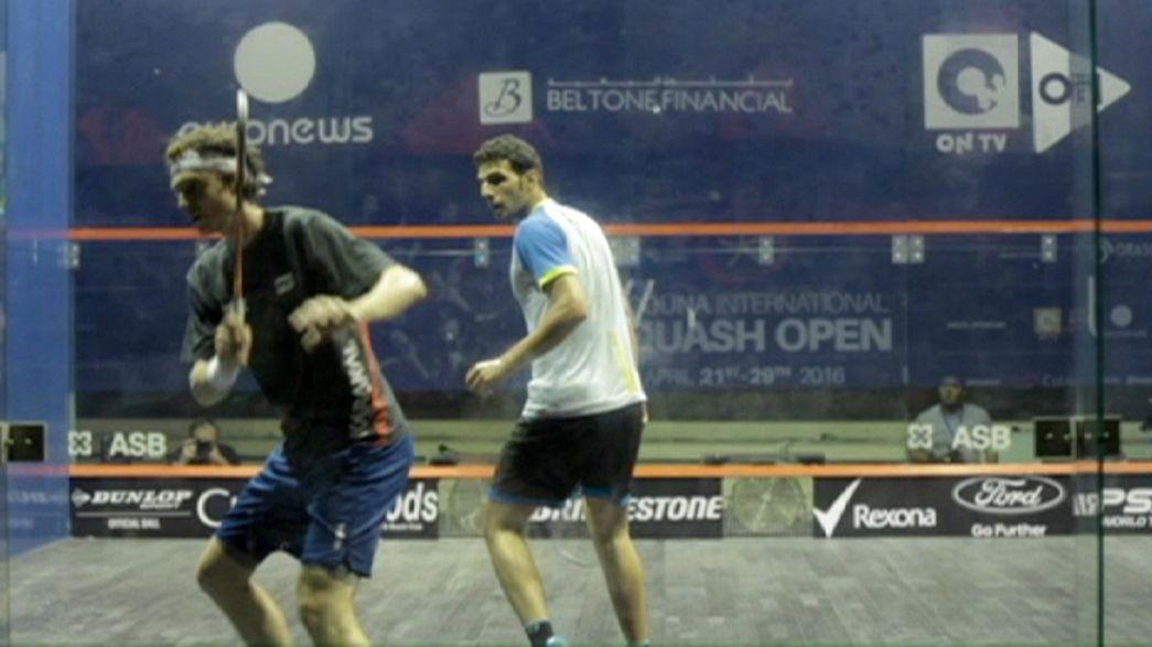 Mosaad y Rodríguez ganan en el arranque del torneo de El Gouna de las Series Mundiales de Squash