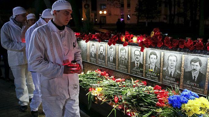 الأوكرانيون يحيون الذكرى الثلاثين لكارثة تشيرنوبيل