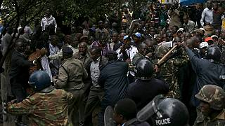 Kenya anti-riot police disperse opposition protest against electoral body