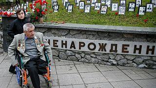 Ukrayna'da Çernobil kurbanları için dini ayin