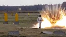 Watch: how does this woman walk through minefield unharmed?