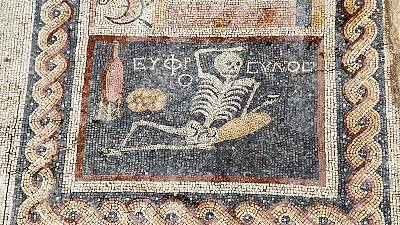 """""""Be cheerful, enjoy your life,"""" ancient mosaic advises"""