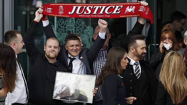 Hillsborough inquest jury says 96 Liverpool fans were unlawfully killed
