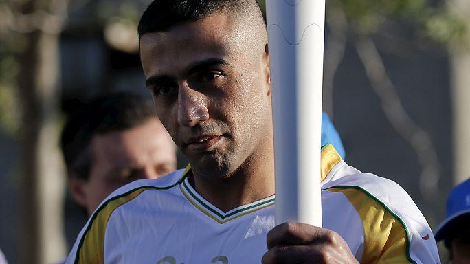 Olimpiyat ateşi sığınmacı kampında