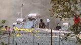 Összecsapások egy leszboszi menekülttáborban