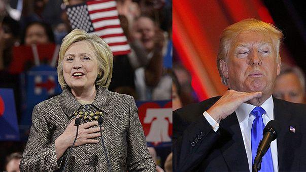 Trump and Clinton register big wins in northeast primaries