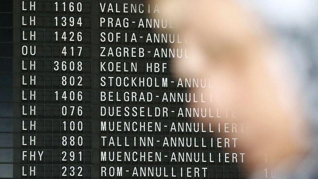 Une grève entrave le trafic aérien allemand