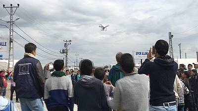 The drone effect: behind-the-scenes in Kahramanmaraş refugee camp