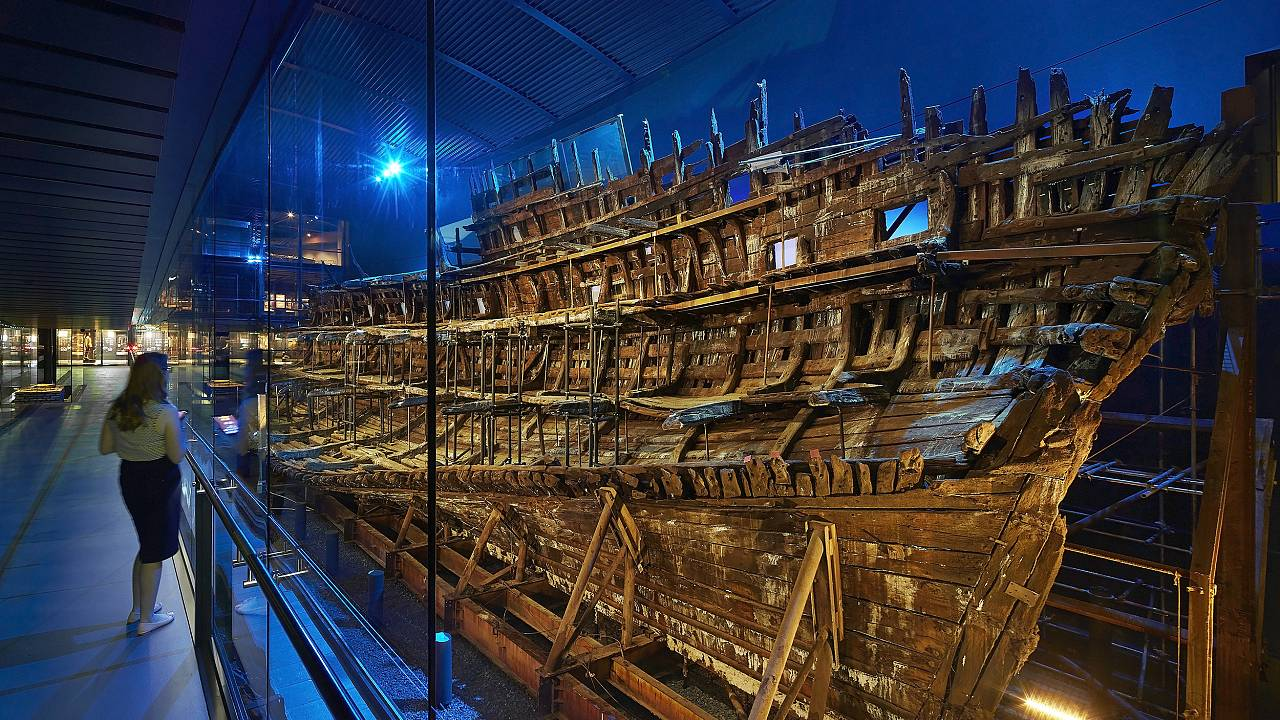 Image: The conservation of the 16th-century British warship, the Mary Rose,