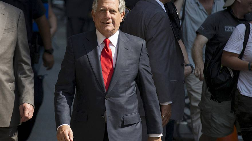 "Image: CBS chairman Moonves arrives for ""The Late Show with Stephen Colbert"