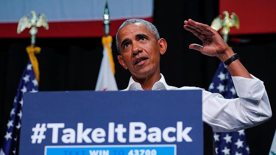 Image: Former U.S. President Barack Obama participates in a Democratic poli