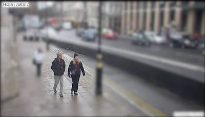 Kurt Cochran and Melissa Cochran walk together across Westminster Bridge in London, Britain prior to an attack on pedestrians on March 22, 2017.