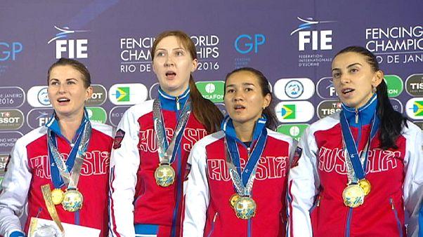 سيف الشيش : تتويج المنتخب الروسي للسيدات بالميدالية الذهبية  في بطولة ريوديجانيرو للمبارزة