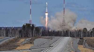 """Erster Start von Russlands neuem Weltraumbahnhof """"Wostotschny"""""""