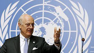 درخواست دی میستورا برای حفظ آتش بس در سوریه