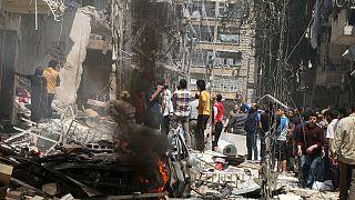 سوريا: عشرات القتلى والجرحى في قصف متابدل في حلب