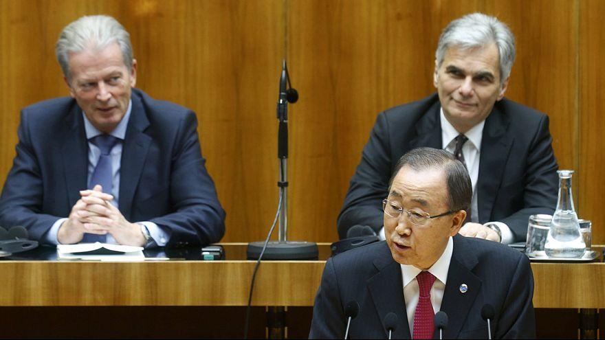 Wien: Ban Ki Moon beklagt Abschottung Europas und Fremdenfeindlichkeit