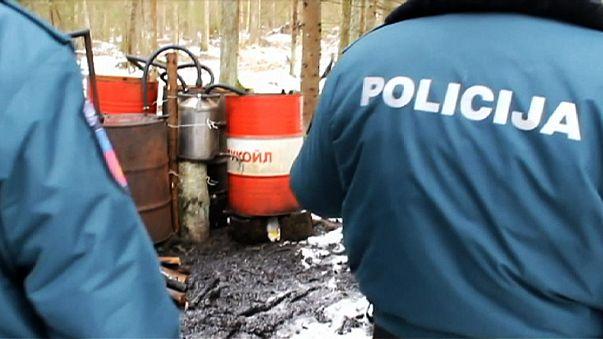 La policía lituana localiza destilerías ilegales con drones militares
