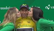 Colombia's Nairo Quintana bumped up on podium in Tour de Romandie