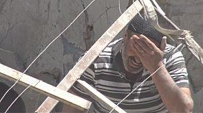 Aleppo airstrike agony