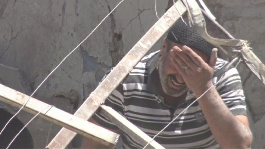 سوريا:غارة تسحق منازل بمنطقة الكلاسة