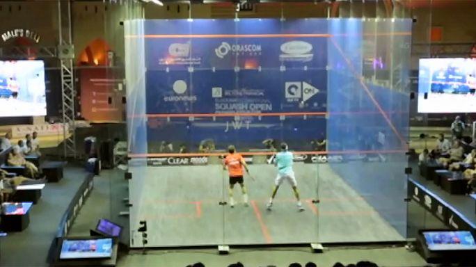 Mohamed El Shorbagy en finale de l'Open d'Égypte