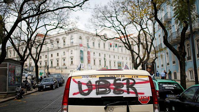 Uber'e bir protesto da Portekiz'den