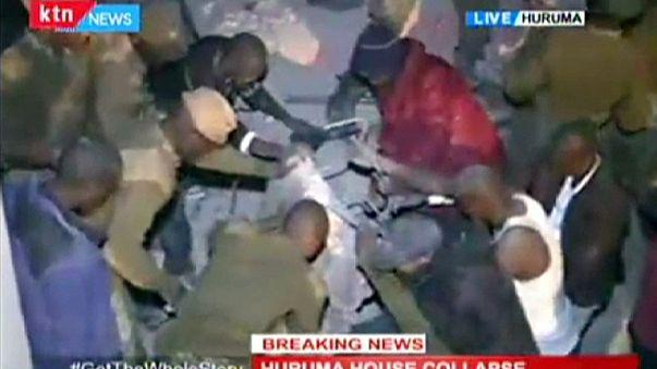 Összeomlott ehy hatemeletes épület Nairobiban