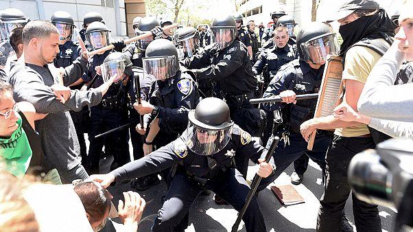 دومین روز تظاهرات بر ضد دونالد ترامپ در کالیفرنیا