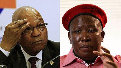 Afrique du Sud : le parti de l'opposant Julius Malema appelle à nouveau à la démission de Jacob Zuma