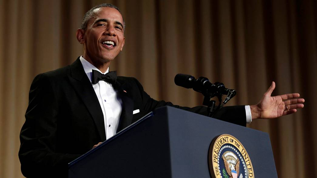 Korrespondenten-Dinner: Obama bringt Washington zum Lachen