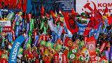 برگزاری تظاهرات اول ماه مه روز جهانی کارگر در سراسر دنیا