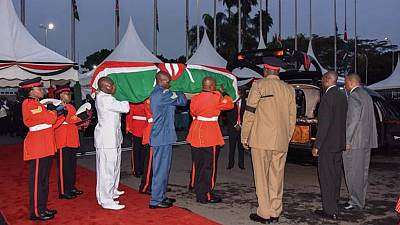 Kenya starts 3 days of mourning as body of former first lady arrives