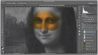 رجل و امرأة وراء ابتسامة موناليزا الغامضة