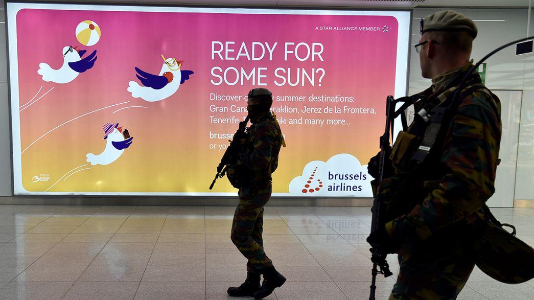 Sechs Wochen nach Anschlägen: Brüsseler Flughafen nimmt Abflughalle wieder in Betrieb