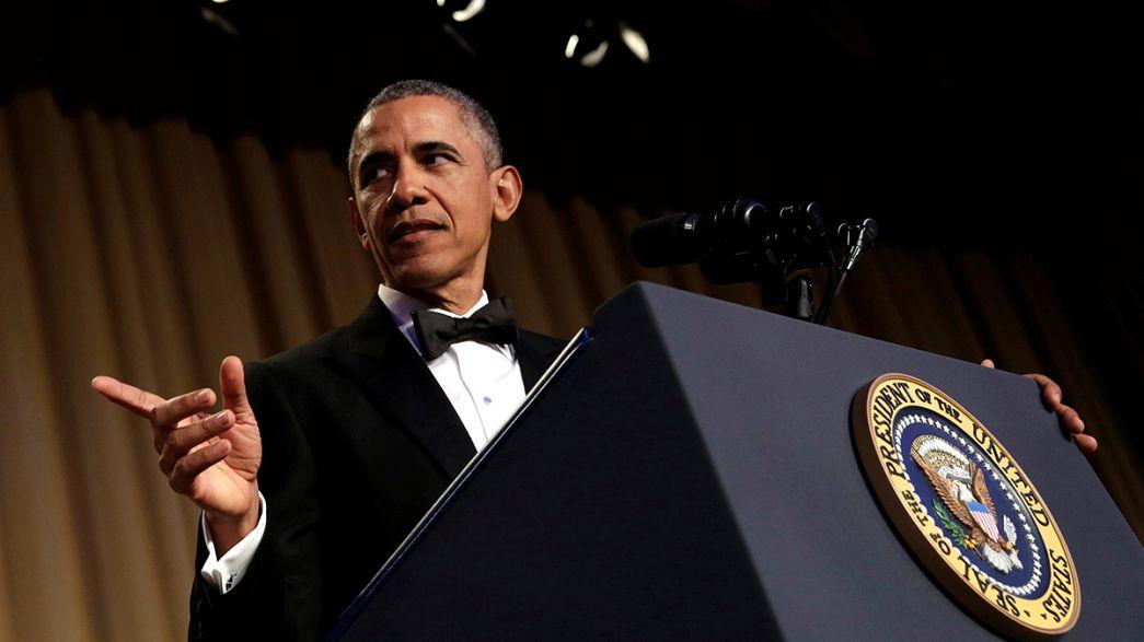 """O último """"stand-up"""" de Obama no jantar de correspondentes"""
