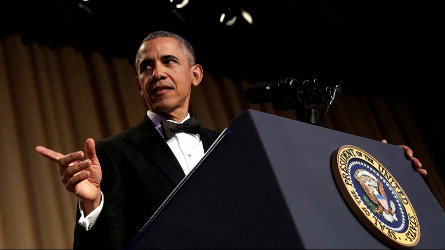 President Barack Obama sparks laughter with masterful speech in final White House Correspondents' dinner