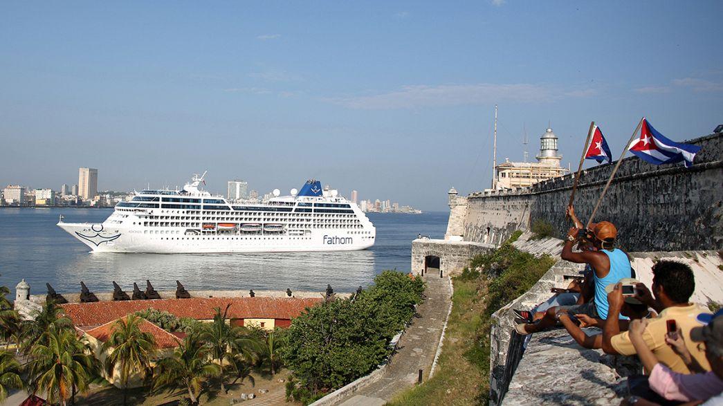 La Habana recibe al primer crucero procedente de Estados Unidos en medio siglo