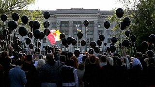 Odesa'daki anma töreninde bomba paniği