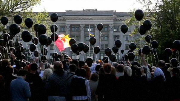 Odessa gedenkt der Opfer der Ausschreitungen von 2014