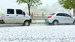 Hailstorm batters northwest Chinese county