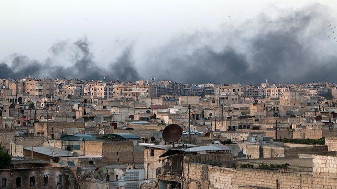 Aleppói kórházat lőttek a szíriai lázadók