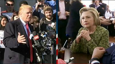 Presidential hopefuls Trump and Clinton shape up as they head for the November 8 showdown