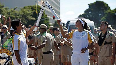 La flamme Olympique de Rio est arrivée au Brésil.