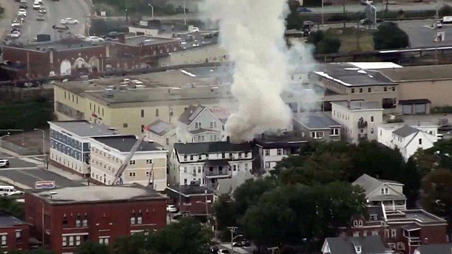 Image: Multiple explosions in Lawrence Massachusetts