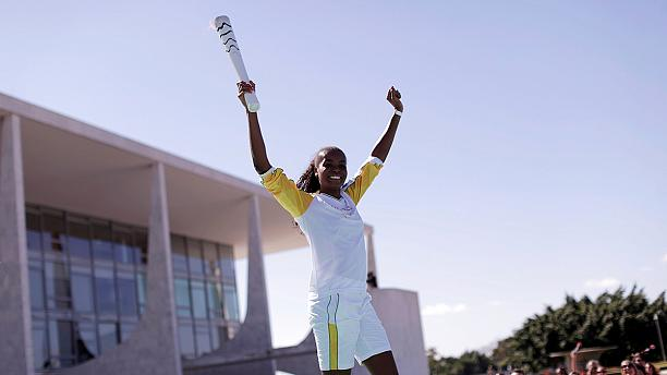 Olympic torch arrives in Brazil