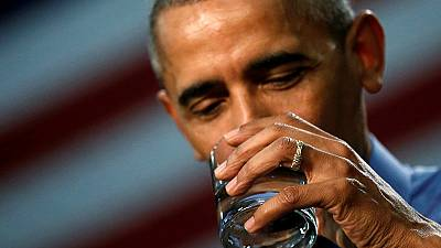 Obama drinks water in Flint to 'show it's safe'