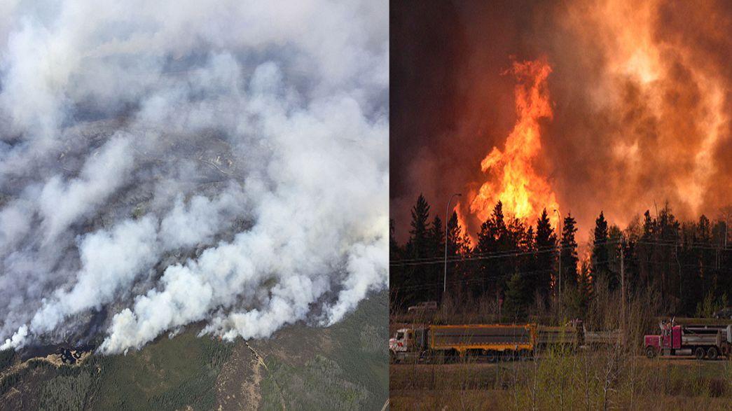 Canadá: Governo de Alberta declara estado de emergência em cidade assediada pelas chamas
